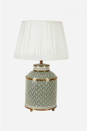 Lamp, tea caddie shape, green