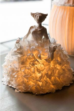 Bordslampa Papier-maché Princesse
