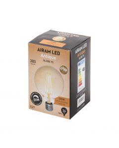 Airam LED Glob 95mm Antique dimbar E27 35W