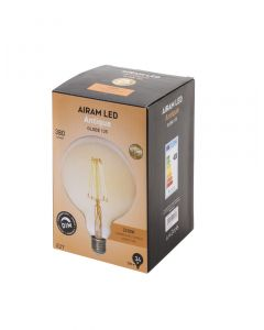 Airam LED Glob 125 mm Antique dimbar E27 35W