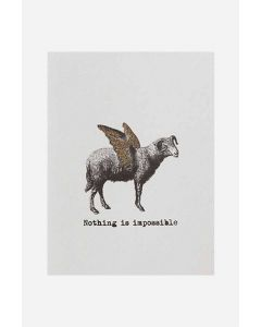 Greeting card Nothing sheep